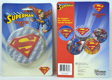 SUPERMAN COASTER SET of 4 & Collector Tin 2002 MIB DC/WB