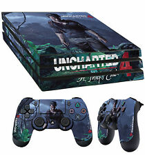 PS4 Pro Skin Uncharted 4 A Thiefs End Drake Sticker + 2 X Pad decal Vinyl LAY