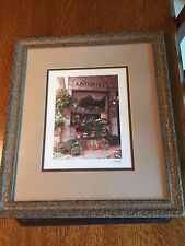 """Hand Painted Picture of Antique Store with Flower Pots 15"""" X 17"""""""