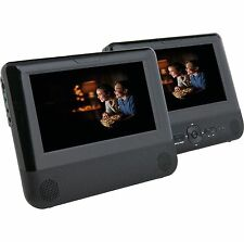 "BUSH 7"" 8737 Twin 2 Screen in car DVD USB Players Multi Region C75"