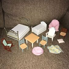 Lot Fisher Price Loving Family Dollhouse Mansion Furniture Bed Chair Adirondack