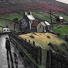 The Welsh Hill Farm : Original BEST Oil Painting Famous Artist James Downie