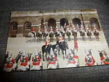 LONDON Changing Guard at Whitehall  POSTED 1936 VINTAGE POSTCARD  GOOD CONDITION