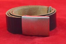 GERMAN MILITARY BUNDESWEHR LEATHER BELT + BUCKLE FOR TROUSERS ORIGINAL