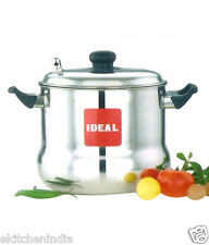 Ideal Stainless Steel Chubby  Large Idli Cooker (6 Plates)