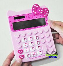 Hello Kitty Cute Bow-knot Basic Desktop Electronic Digit Calculator Pink