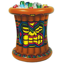 Luau TIKI Man Totem Pole BEVERAGE COOLER Party Decoration TROPICAL ISLAND Beach