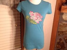 ED HARDY BY CHRISTIAN AUDIGIER SHIRT SIZE SMALL PINK FLOWER