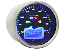 Digital Speedo Speedometer Gauge KOSO D64 idiot light, cafe racer chopper bobber