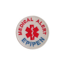 Iron on and Sew On Embroidered Patch Medical Alert EPIPEN
