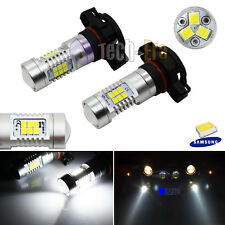 2x White 5202 H16 High Power Samsung LED Bulbs For Fog or Daytime Running Lights