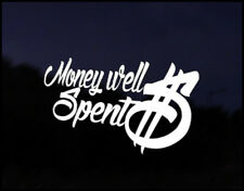 Money Well Spent Euro Vag Car VW Decal Sticker Vehicle Bike Bumper Vinyl funny