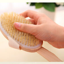 NEW Body Natural Dry Skin Exfoliation Brush Massager Bath Shower Scrubber