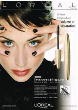 Publicité Advertising 2001 Cosmetique maquillage L'Oreal avec Claire Forlani