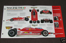 1979 FERRARI 312 T4 Villeneuve Car SPEC SHEET BROCHURE PHOTO BOOKLET