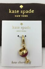 New Kate Spade How Charming Champagne Glass Charm
