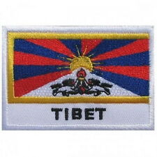 TIBET Freedom Flag Embroidered Sew On Iron On Shirt Bag Jeans Badge Patch