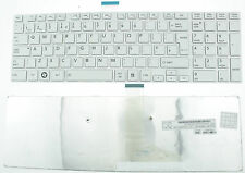 TOSHIBA SATELLITE PRO C850 C855 C850D C870 L850 L855 UK KEYBOARD WHITE FRAME F67