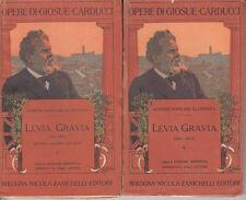 CARDUCCI LEVIA GRAVIA 1861-1871 SECONDA EDIZIONE CON NOTE 1861-1867 LIBRO 1910
