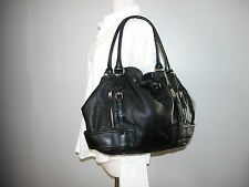 COLE HAAN Black Pebbled Leather Tote Bag Size LARGE
