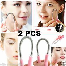 2 PCS Facial Hair  Remover Spring Epilator , Hair Remover Beauty Tool
