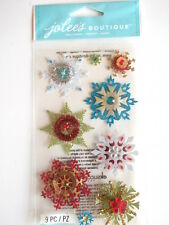 JOLEE'S BOUTIQUE STICKERS - EMBELLISHED SNOWFLAKES Christmas