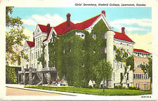 Girls' Dormitory, Haskell College, Lawrence, Kansas KS Linen Postcard