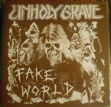 """Unholy Grave - Fake World 7"""" E.P.(2014)ARCHAGATHUS BUTCHER ABC MASSGRAVE PHLEGM"""