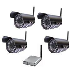 4PCS 4CH Hi-Power Long Range 1000M Night Vision 2.4GHz Wireless CCTV Camera 928F