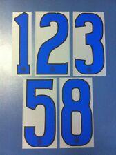 inter 2006-2007 numero numeri blu a scelta x maglia inter nike nuovo nuovi new