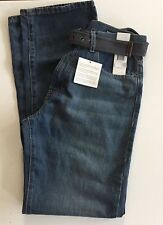 NEW Calvin Klein Denim Jeans Relaxed Straight 431 Medium Wash Style Size 34x32