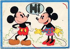 MICKEY MOUSE ET MINNIE. CARTE LETTRE. LETTER CARD.