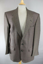 CLASSIC AUSTIN REED BRITISH MADE PURE WOOL CHECKED BROWN TWEED JACKET 42 INCH