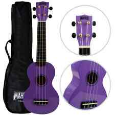 Mahalo Soprano ukulele Purple Fitted With Aquila Strings & Case