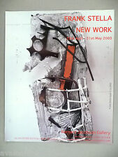 Frank Stella Art Gallery Exhibit PRINT AD -- 2003