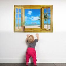 3D False Landscape Windows Seascape Wall Home Stickers Decors Wall Paper *