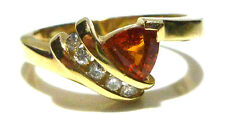 EFFY BH 14K YELLOW GOLD CITRINE & DIAMOND WOMENS ESTATE RING BAND SIZE 7.25