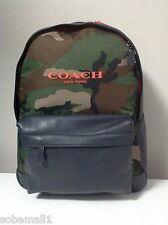 Coach Campus Classic Camouflage with Leather Trim Backpack F71755 LIMITED