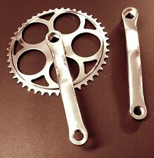 "Retro Chainset Cranks Single, Three and Five  speed Crankset 46T 3/32"" 46 Teeth"