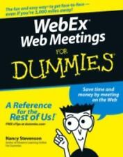 WebEx Web Meetings For Dummies, Nancy Stevenson, Good Condition, Book