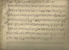 Spartito Manoscritto Ottocentesco Solfeggi di Primo Grado Forma di Duetti 1800
