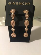 $78 Givenchy Rose Gold Tone Linear Drop Earrings #713