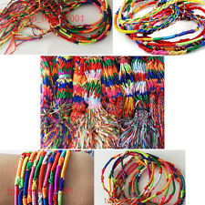 50pc Wholesale Lots Silk Macrame Hand-weave Friendship Bracelets Anklet
