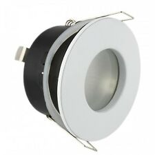 10 x Waterproof Bathroom Shower Downlights IP44 GU10 Led Suitable White Finish