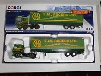 Corgi.CC15504 VOLVO F10 TILT TRAILER,E M ROGERS LTD EUROPEAN TRANSPORT scale1:50