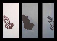 Airbrush Schablone Step by Step  336 betende Hände 1