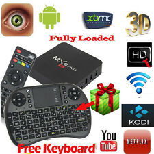 KODI MXQ PRO 4K S905 Quad Core Android 5.1 Smart TV Box Fully Loaded+Keyboard