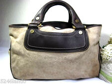 CELINE Boogie Suede Tote Hand Bag Italy