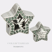 Authentic Pandora Sterling Silver Disney Green Tinker Bell Stars Bead 791920NPG