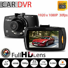 Full HD 1080P Car Vehicle Camera Dash Cam Video 2.4'' LCD G-sensor Night Vision